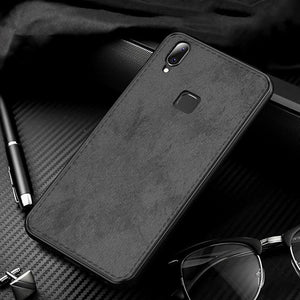 Vivo Y95 Ultra Slim Suede Fabric TPU Cloth Case