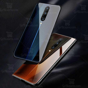 OnePlus 7 Pro Electric Wave Design Toughened Glass Hard Case