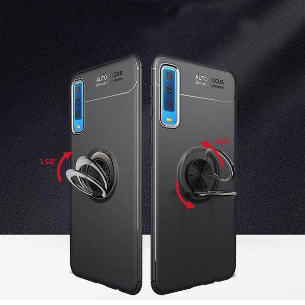 Samsung Galaxy A50/A50s/A30s Rotating Finger Ring Holder Cum Kickstand Soft Silicone Case