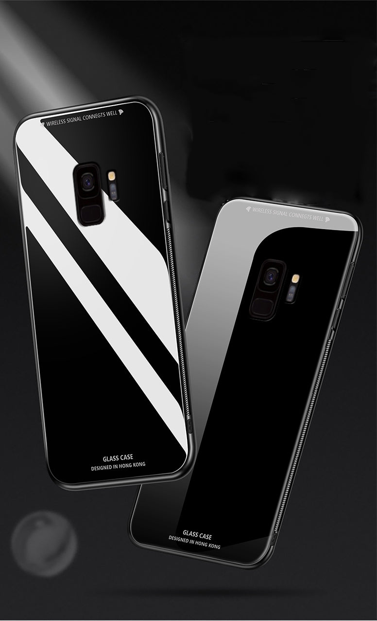 Samsung Galaxy J8 Toughened 5D Back Glass Wireless Edition Ultra Slim Case
