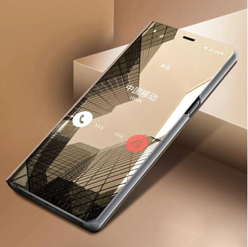 MI POCO F1 Clear View Dynamic Standing Mirror Flip Cover ( Non-Sensor Working )