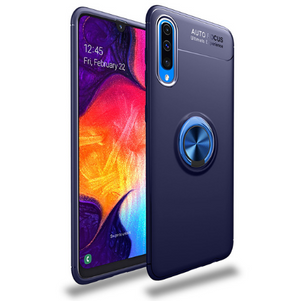 Samsung Galaxy A70 Rotating Finger Ring Holder Cum Kickstand Soft Silicone Case
