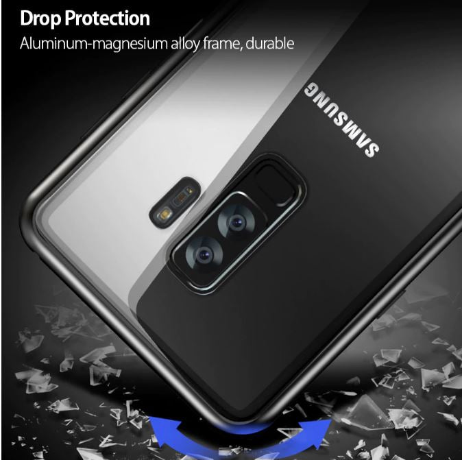 Samsung Galaxy J8 Magnetic Auto-Fit 360 Degrees Armoured Case