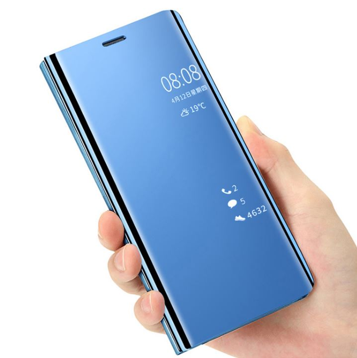 Vivo V15 Pro Clear View Dynamic Standing Mirror Flip Cover (Non Sensor Working)