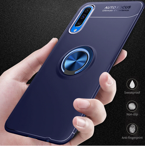 Samsung Galaxy A50 Rotating Finger Ring Holder Cum Kickstand Soft Silicone Case