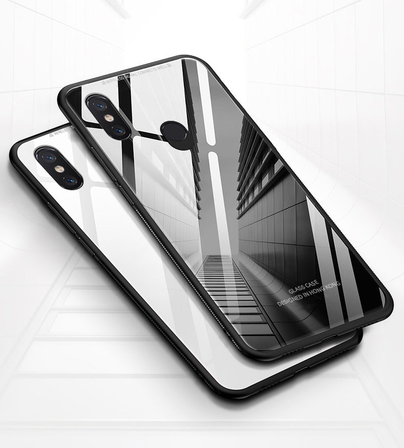 Redmi Note 5 Pro Toughened 5D Back Glass Wireless Edition Ultra Slim Case