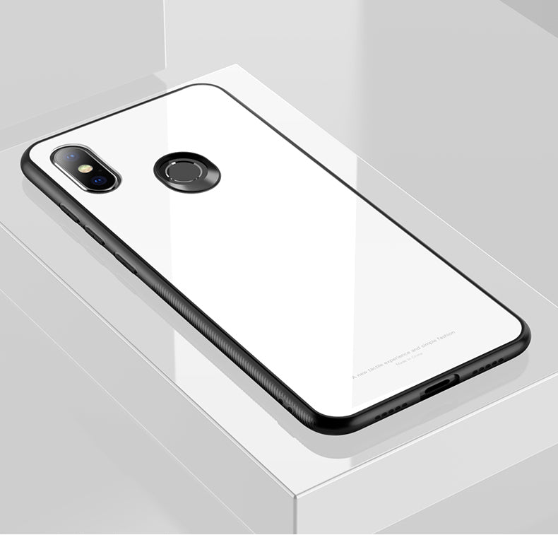 Redmi Note 6 Pro Toughened 5D Back Glass Wireless Edition Ultra Slim Case