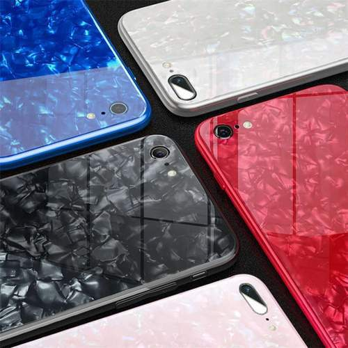 Apple iPhone 7Plus/8Plus Ultra Slim Toughened Marble Glass Case