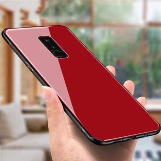 Oppo F11 Pro Toughened 5D Back Glass Wireless Edition Ultra Slim Case with Free 5D Tempered Glass
