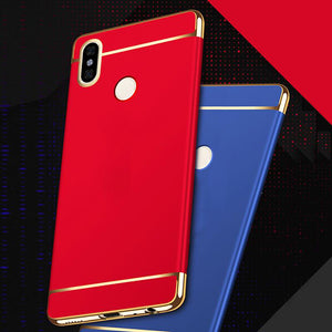 Redmi Note 7/ 7 Pro Luxurious Electroplated 3 in 1 Hard Back Case
