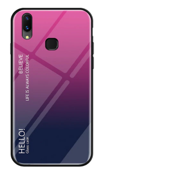 Vivo Y93 Dual Shade Gradient Color Toughened 5D Back Glass Rainbow Case