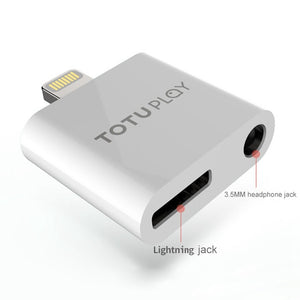 TOTU Design 2 in 1 Lightning Bluetooth PC Audio Converter compatible for iPhone