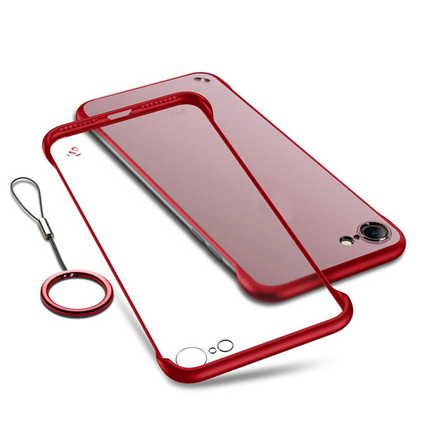 Apple iPhone XR Ultra Slim Premium Frameless Transparent Hard Case (With Free Metal Ring)