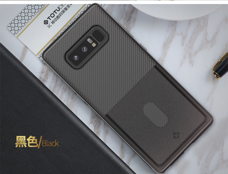 Samsung Galaxy Note 8 TOTU Design Card Holder Leather Touch Case (With Free back screen Protector)