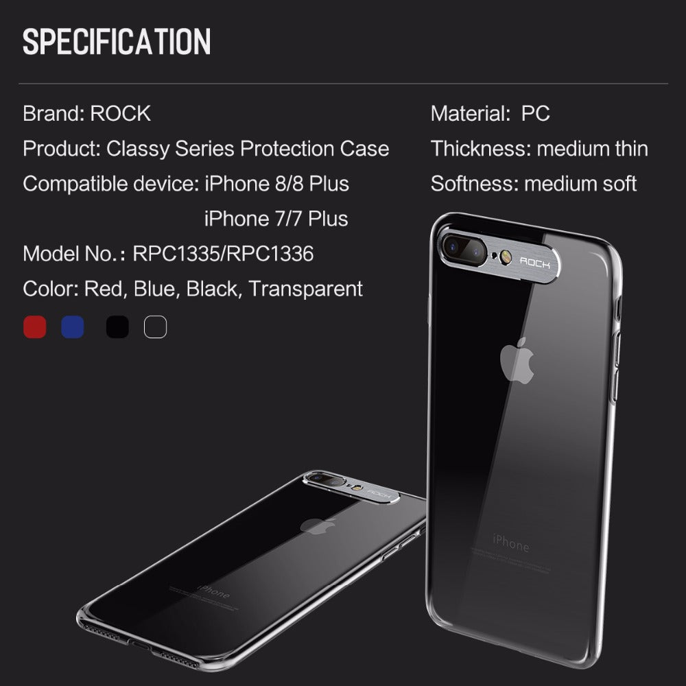 ROCK 100% Original 360 Degree Hard Protective Case For iPhone 7 and iPhone 8