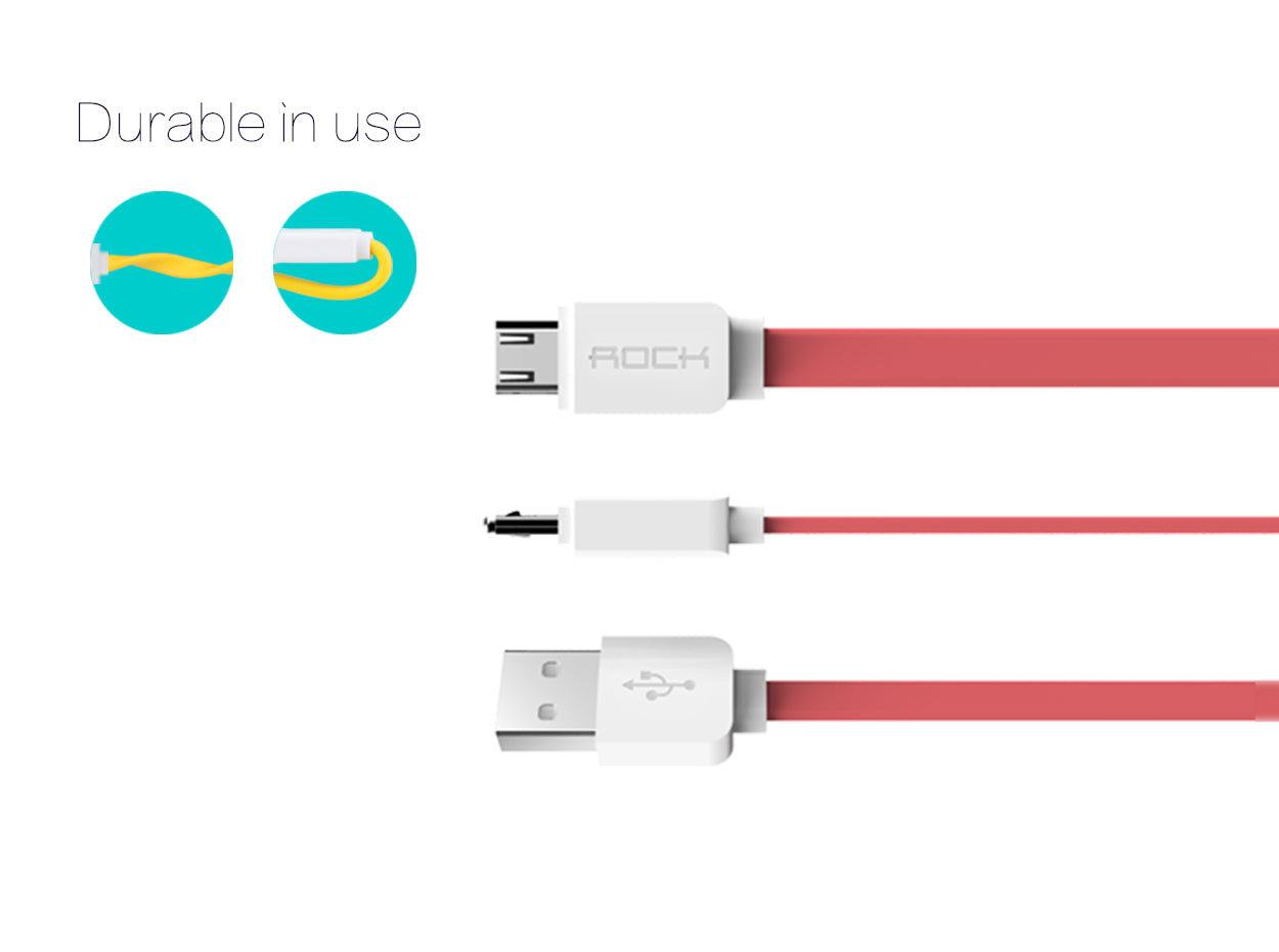 Rock Lightning Charge Speed Data Cable for Apple