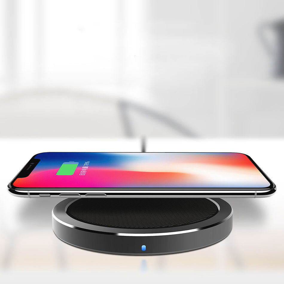 ROCK W4 Linen Wrapped Quick Wireless Smartphone Charger for Apple, Samsung and Other QI-Enabled Devices