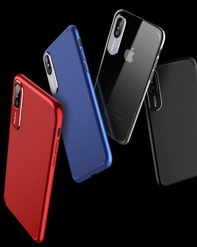 ROCK 100% Original Super Slim 360 Degree Classy Hard Protective Case For iPhone X/Xs
