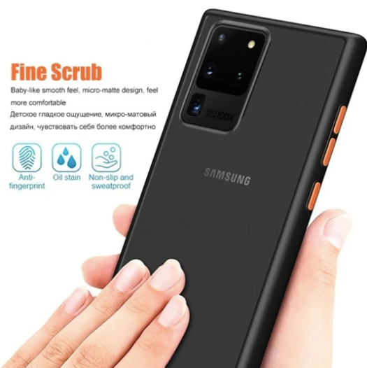 Samsung Galaxy S20 Ultra Luxurious Smoky Matte Shockproof Armour Case