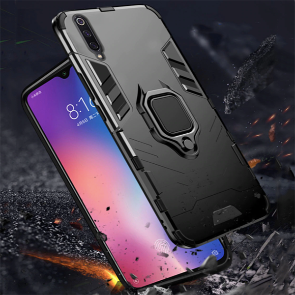 Samsung Galaxy A50/A50S/A30S Shockproof Rugged Iron Man Armour Case With Rotating Magnetic Ring
