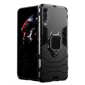 Vivo S1 Shockproof Rugged Iron Man Armour Case With Rotating Magnetic Ring