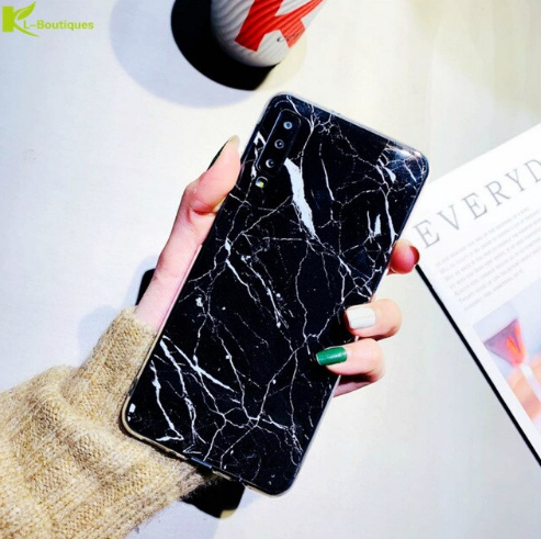 Samsung Galaxy A50/A50s/A30s Ultra Slim Toughened Italian Marble Glass Back Case