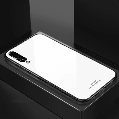 Samsung Galaxy A7 (2018) Toughened 5D Back Glass Wireless Edition Ultra Slim Case