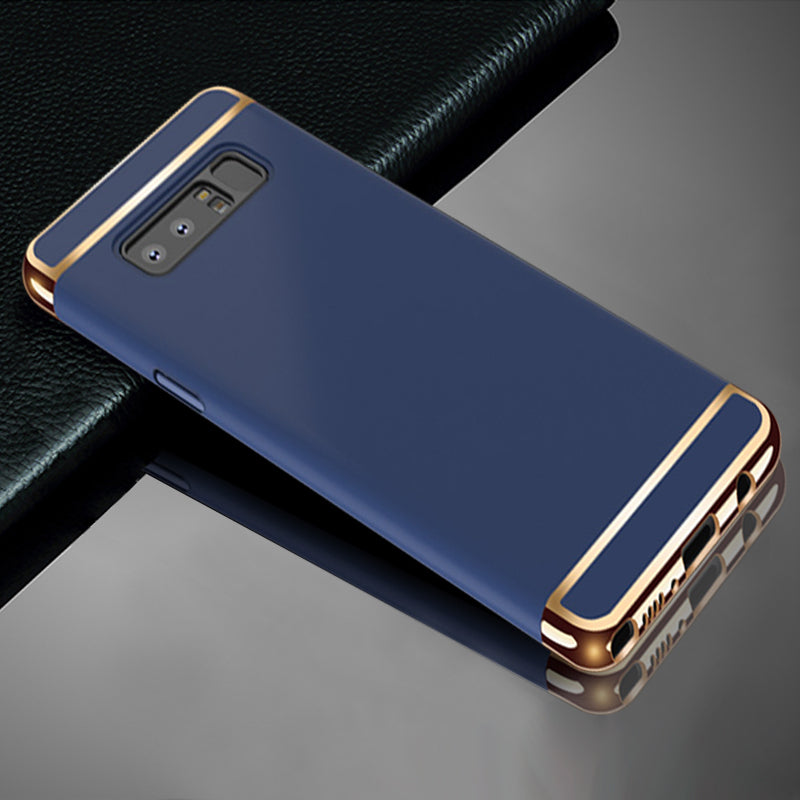 Samsung Galaxy Note 8 Luxurious Electroplated 3 in 1 Hard Back Case