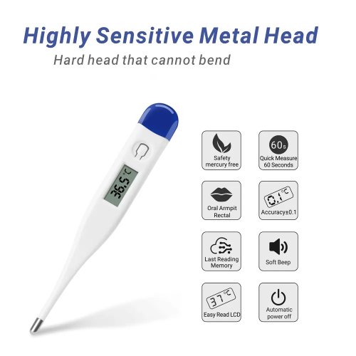 Non-Mercury Digital Display Clinical Oral Thermometer