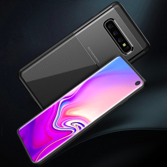 Samsung Galaxy S10 Plus Luxurious 2 in 1 Hybrid Armor Soft Case