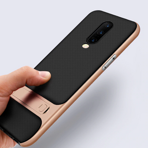 OnePlus 7 Pro Luxurious Kickstand Full Protection Matte Hybrid Shell