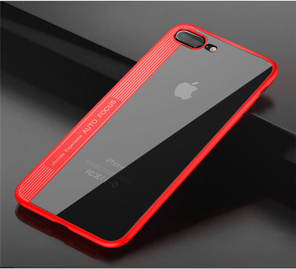 Apple iPhone 8 & iPhone 7 100% Genuine Totu Ultra Slim Naked Through Case + Free Tempered Glass