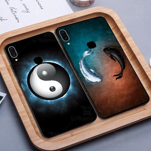 VIVO Y95 Ultra Slim Toughened Yin Yang Good Luck Glass Case