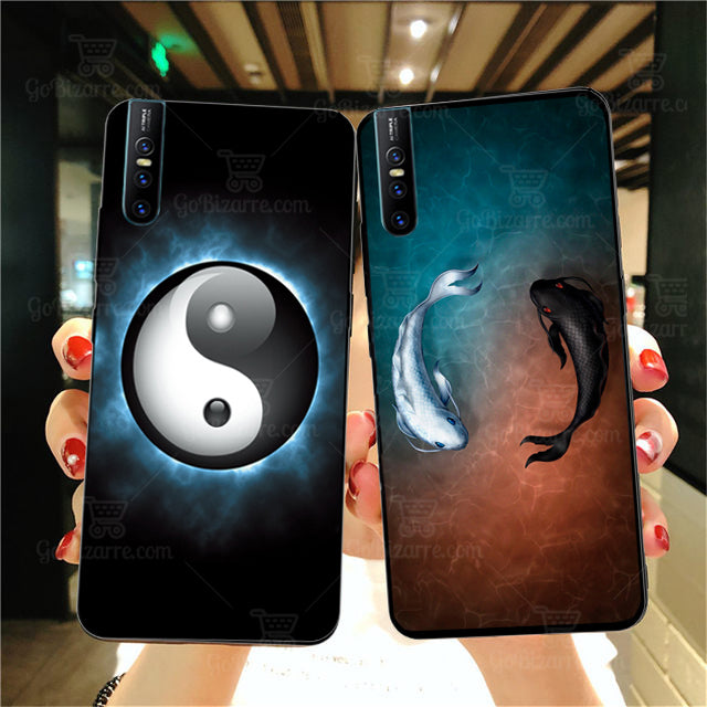 VIVO V15 Pro Ultra Slim Toughened Yin Yang Good Luck Glass Case