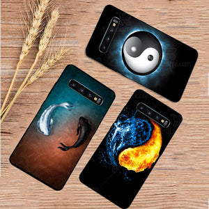 Samsung Galaxy S10 Plus Ultra Slim Toughened Yin Yang Good Luck Glass Case