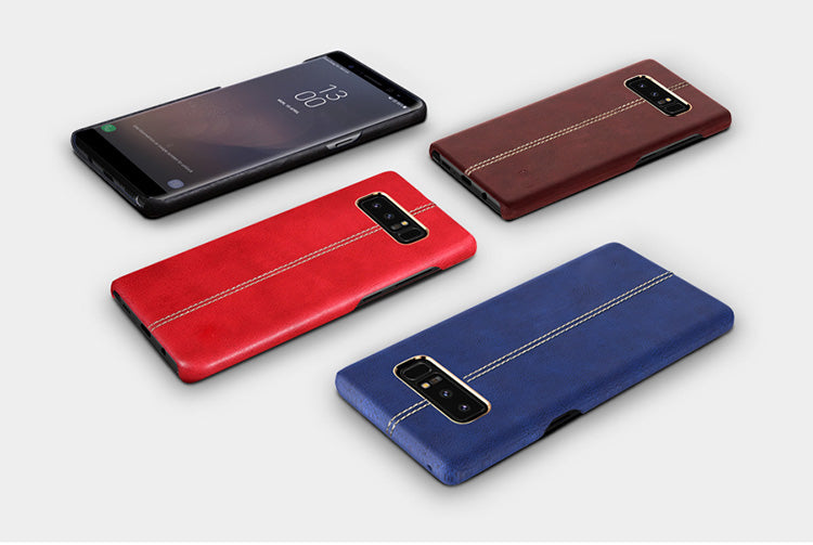 Samsung Galaxy Note 8 Vorson Luxurious Genuine Leather PU Hard Back Case