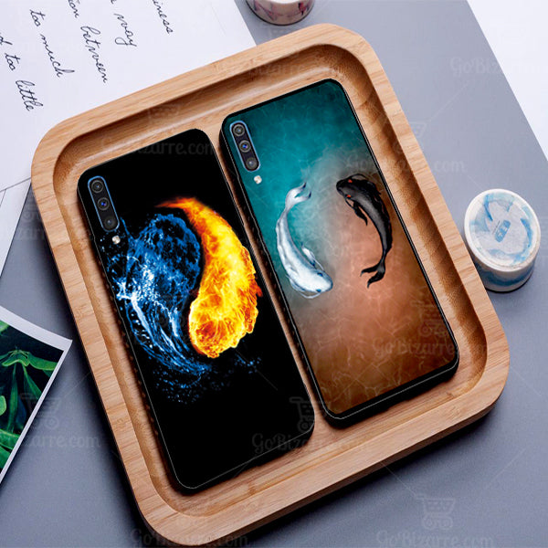 Samsung Galaxy A70 Ultra Slim Toughened Yin Yang Good Luck Glass Case