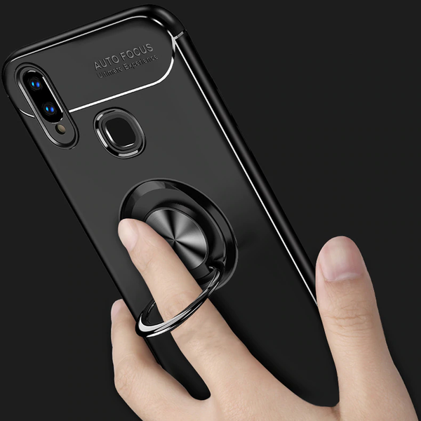 Redmi Note 7/7 Pro Rotating Finger Ring Holder Cum Kickstand Soft Silicone Case
