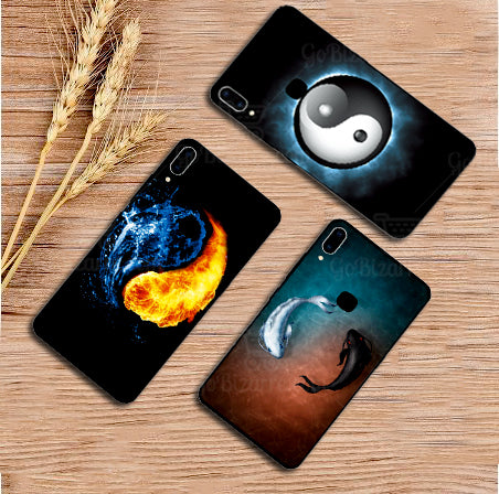 Samsung Galaxy A20 Ultra Slim Toughened Yin Yang Good Luck Glass Case