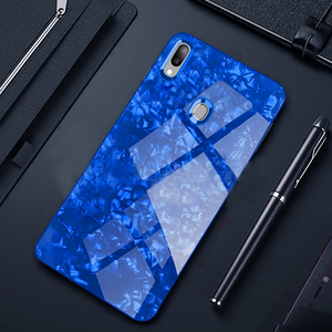 Samsung Galaxy M30 Ultra Slim Toughened Marble Glass Back Case (With Free 5D Tempered)