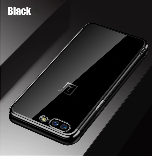 OnePlus 5T Electroplated Edge Soft Silicone TPU & Anti-scratch Crystal Case