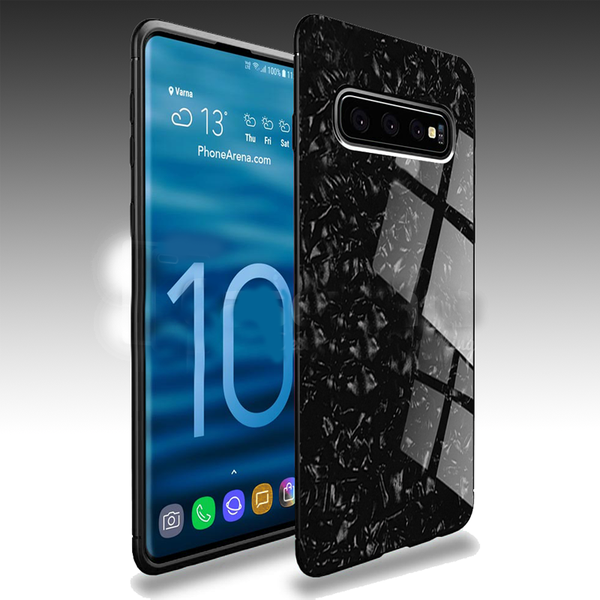 Samsung Galaxy S10 Plus Ultra Slim Toughened Marble Glass Case