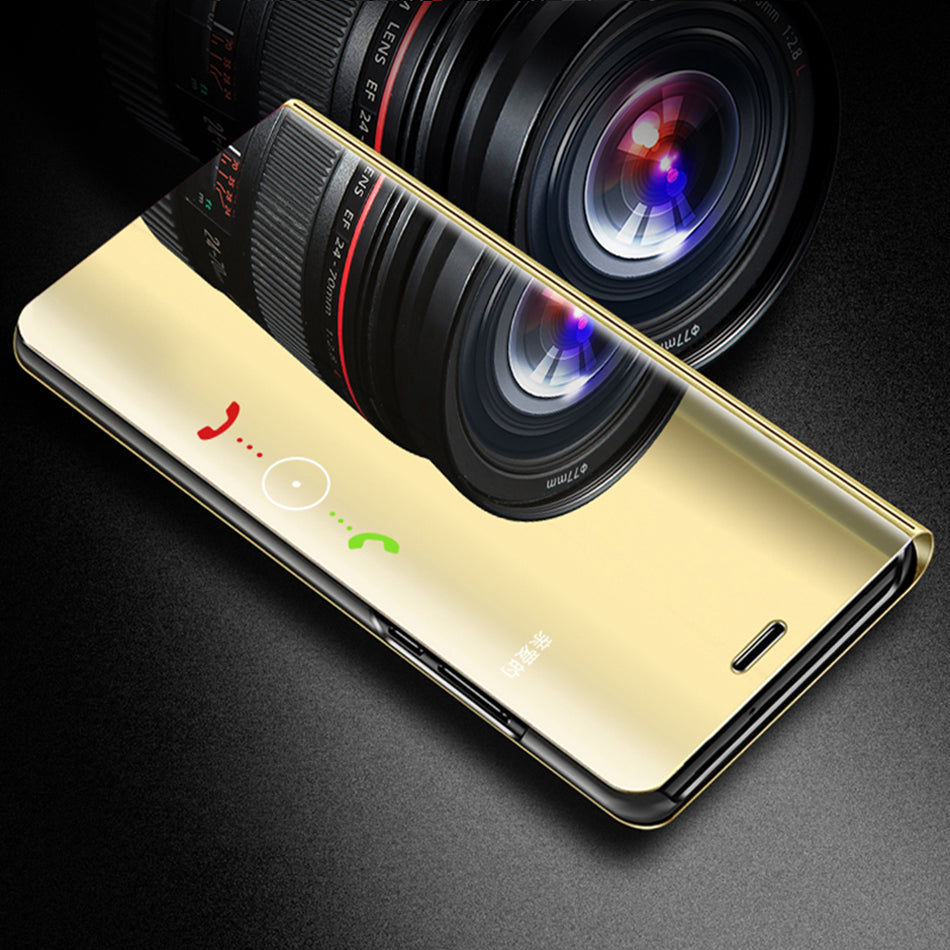the best attitude d6c65 4a707 Redmi Note 5 Pro Clear View Dynamic Standing Mirror Flip Cover (Non ...