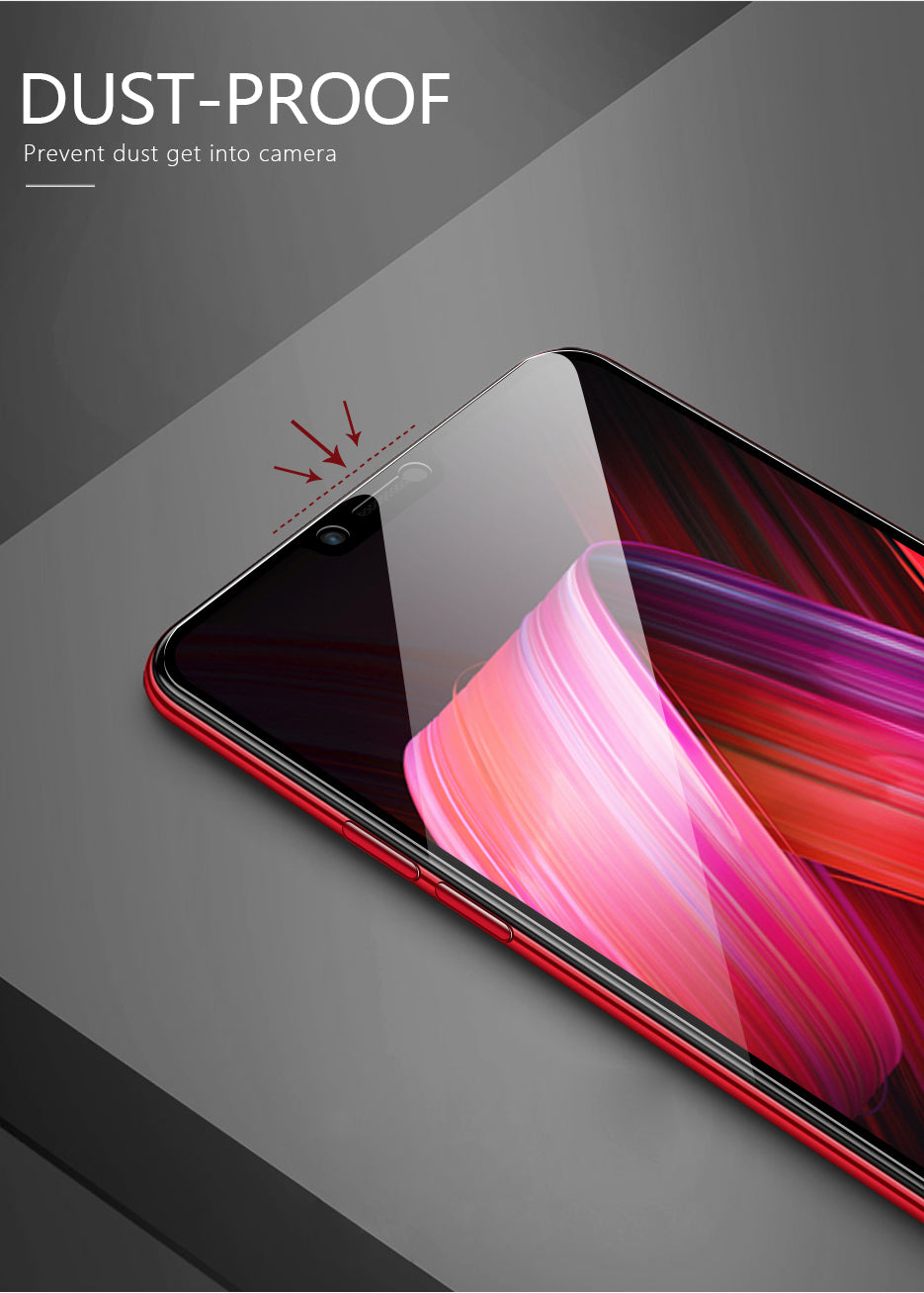 100% Original OPPO F7 5D Curved Tempered Glass Screen Protector
