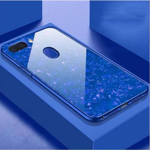 OPPO F9/F9 Pro Ultra Slim Toughened Marble Glass Case