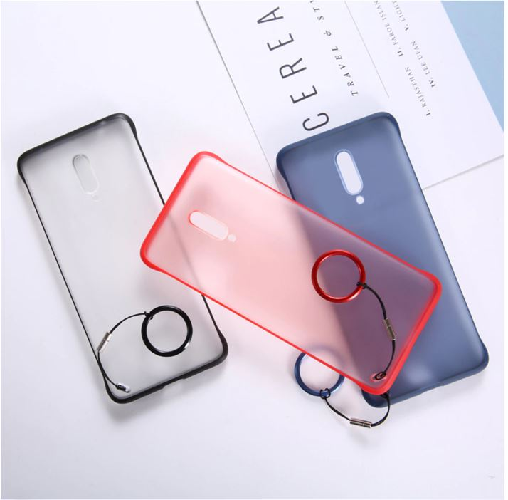MI POCO F1 Ultra Slim Premium Frameless Transparent Hard Case (With Free Metal Ring)