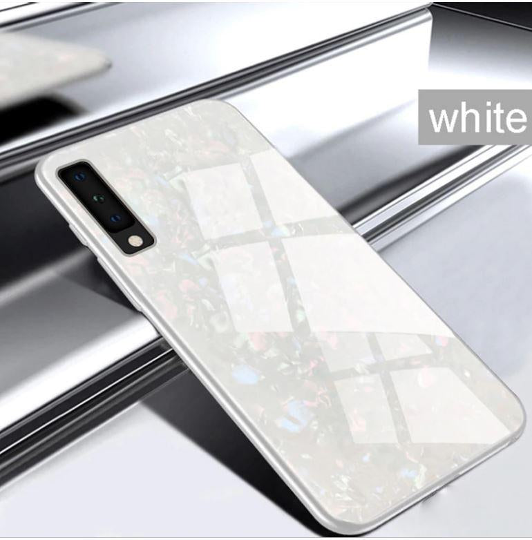 Samsung Galaxy A7 (2018) Ultra Slim Toughened Marble Glass Case