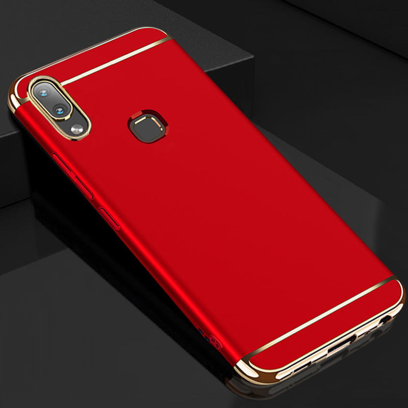 VIVO V9 Luxurious Electroplated 3 in 1 Hard Back Case