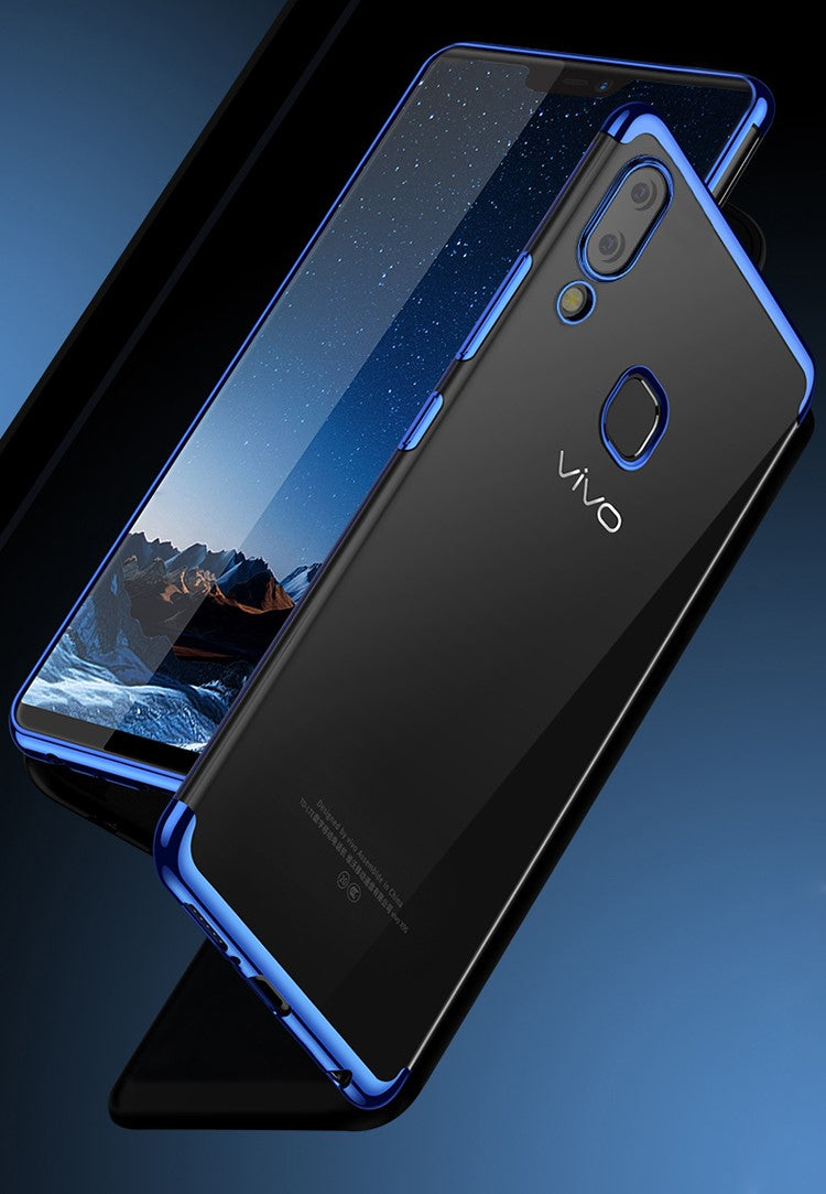 VIVO V9 Ultra Thin Transparent Luxurious Glitter Soft Case