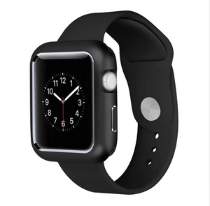 Apple iWatch Magnetic Metal 360 Protective Armor Case for 42/44mm -BLACK (Watch not included)